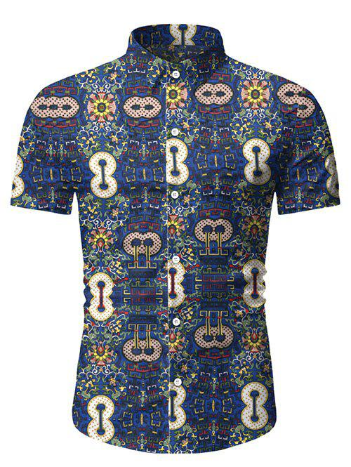 Online Abstract Print Short Sleeve Shirt