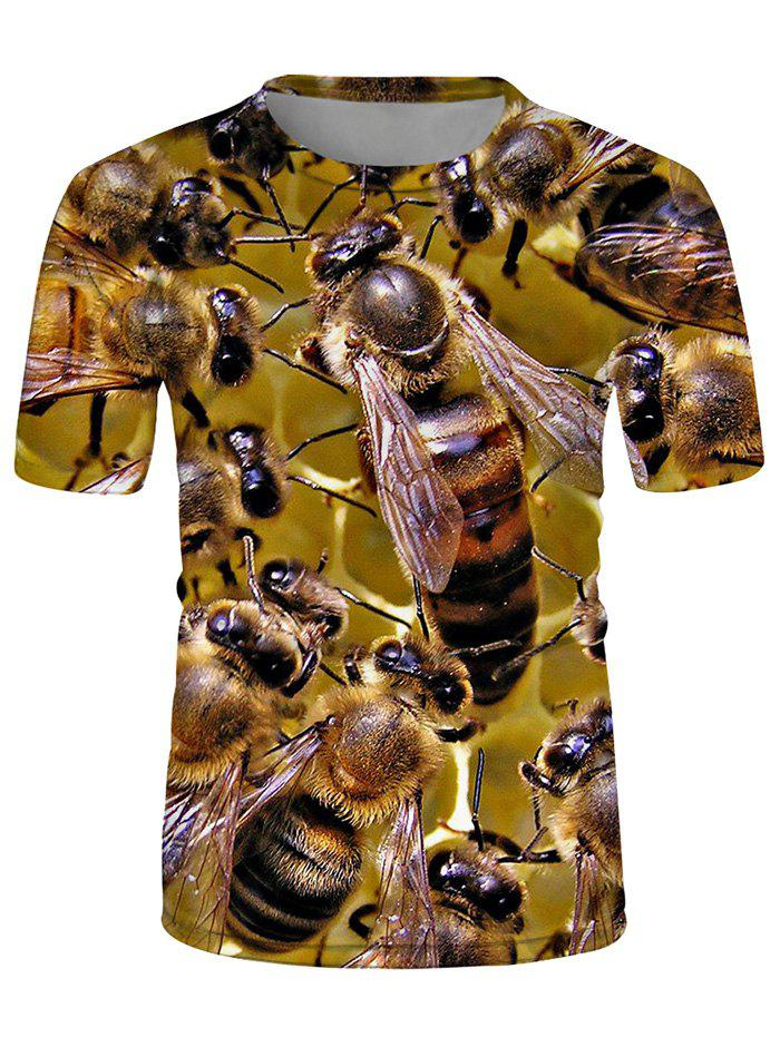 Affordable 3D Bees Printed T Shirt