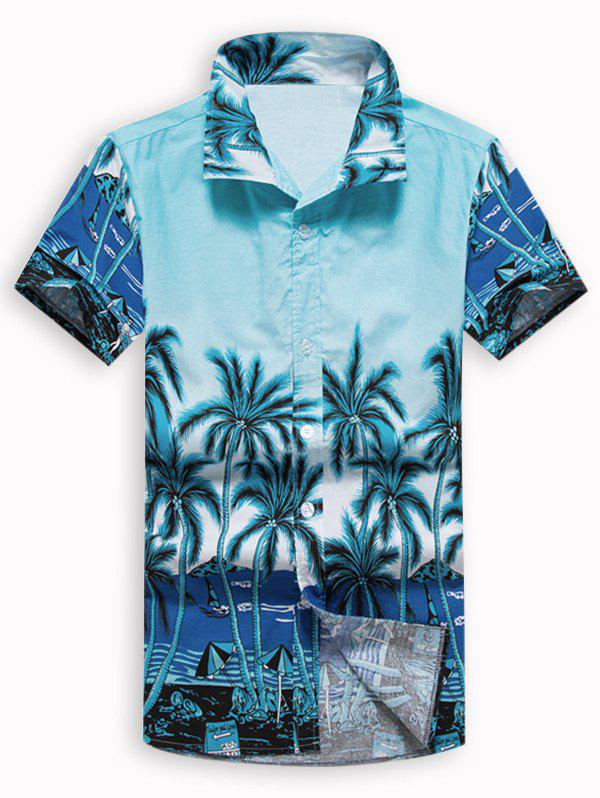 Fancy Beach Holiday Palm Tree Hawaii Shirt