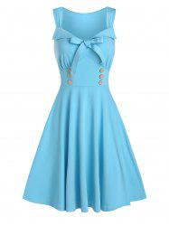 Bowknot Sweetheart Neck Sleeveless A Line Dress -