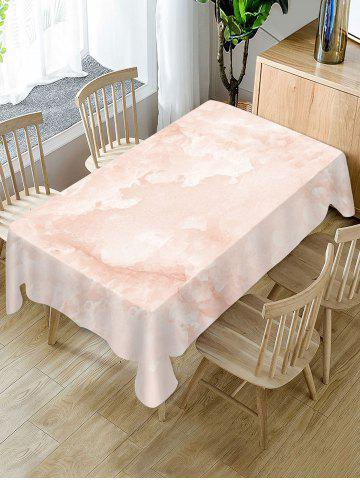 Marble Print Fabric Tablecloth