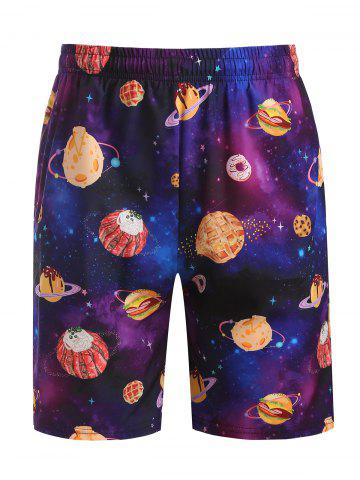 Galaxy Dessert Print Beach Shorts