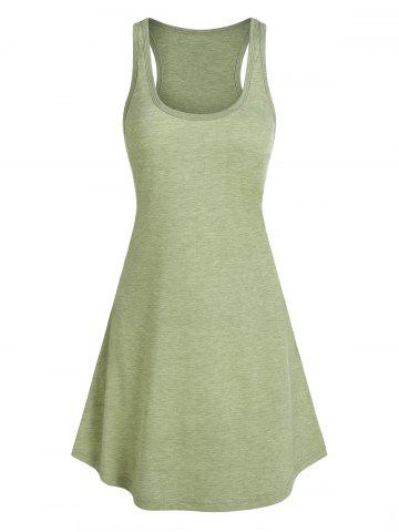 Heathered Curved Hem Tank Dress