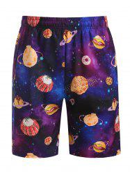 Galaxy Dessert Print Beach Shorts -