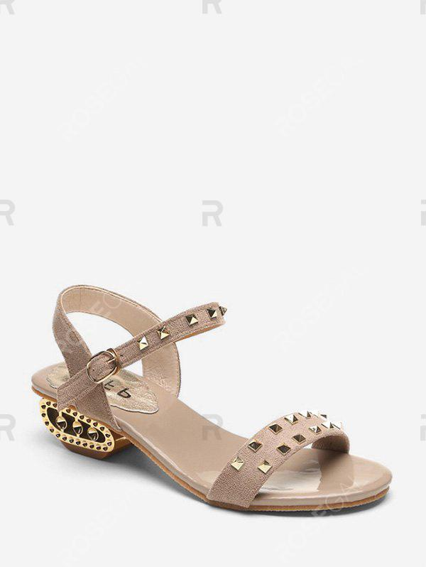 Fancy Casual Open Toe Rivet Sandals