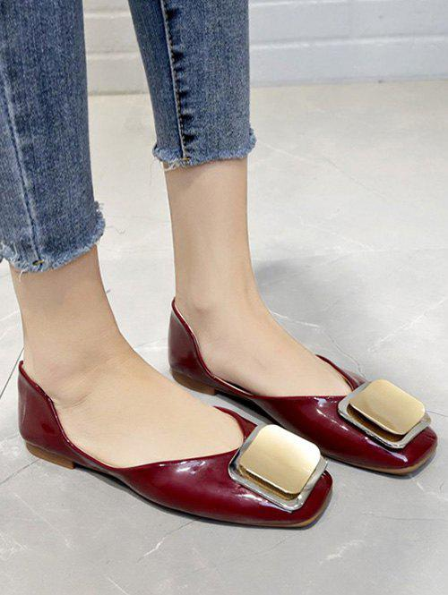 Outfit Slip On Square Embellished Flat Shoes