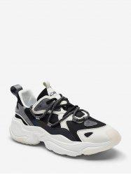 Mix Material ColorBlock Breathable Ugly Sneakers -