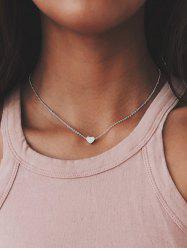 Heart Collarbone Chain Necklace -