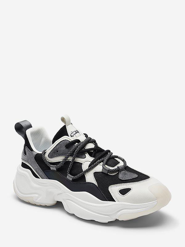 Cheap Mix Material ColorBlock Breathable Ugly Sneakers