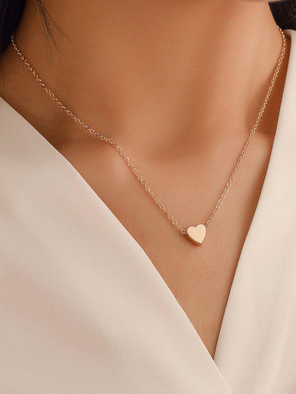 Shop Heart Collarbone Chain Necklace