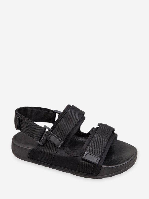 Sale Hook And Loop Casual Ankle Strap Sandals