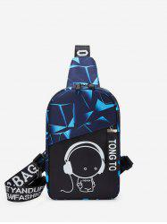 Cartoon Graphic Casual Chest Bag -