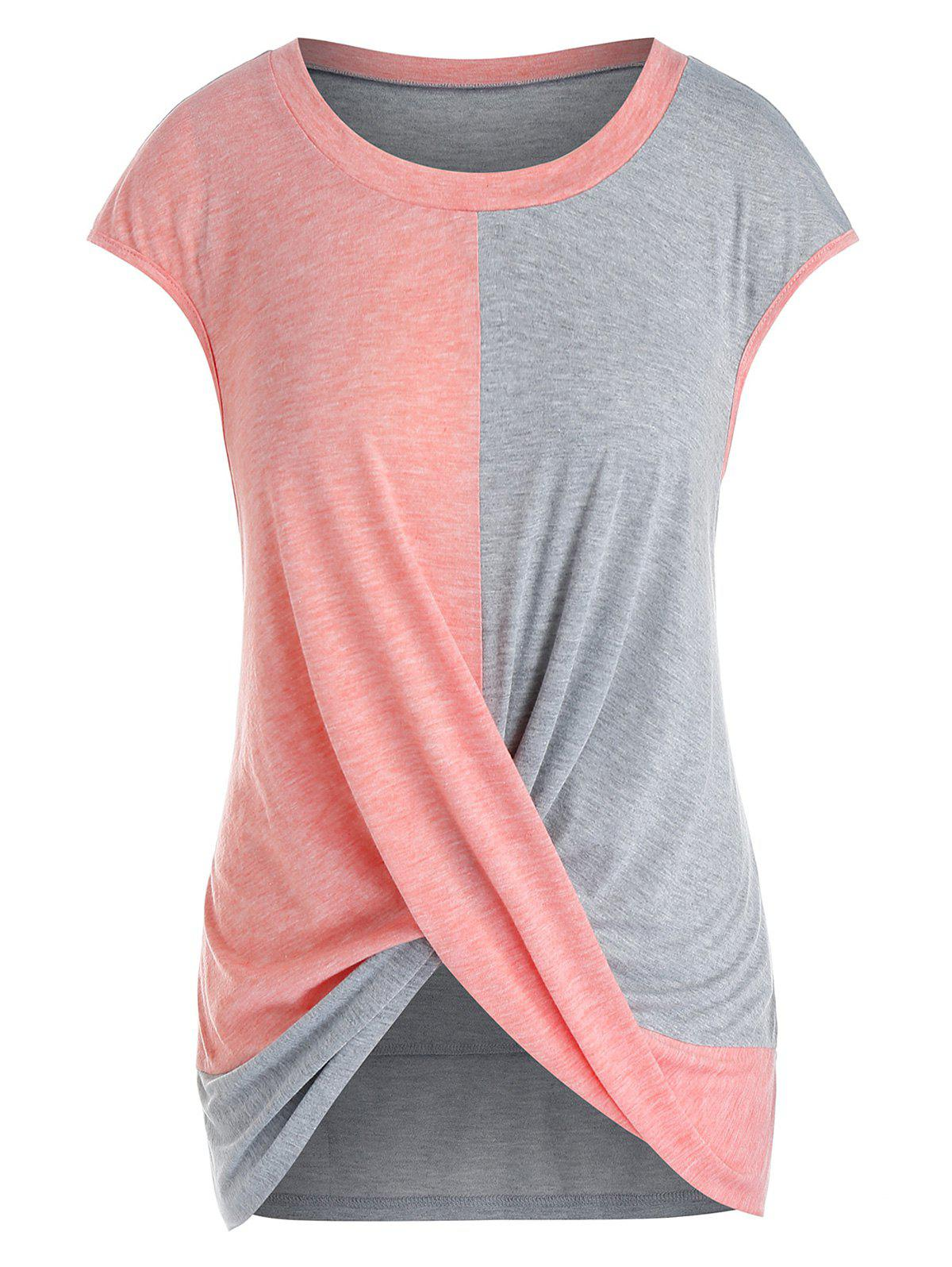 Outfit Plus Size Cap Sleeve Criss Cross T-shirt