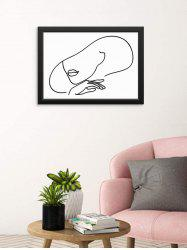 Home Decoration Beauty Sketch Print Wall Poster -