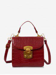 Animal Embossed Top Handle Mini Sling Bag -