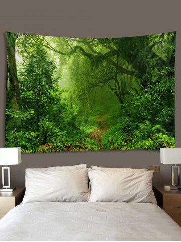 Forest Trail Printed Tapestry Wall Hanging Art, Multi