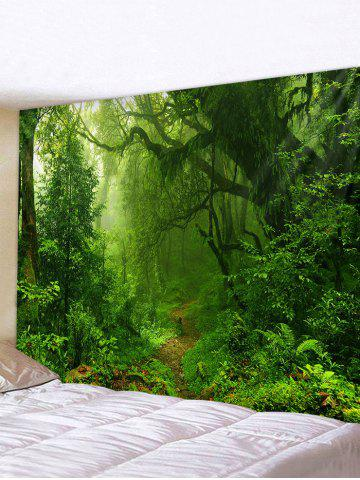 Forest Trail Printed Tapestry Wall Hanging Art - MULTI - W71 X L71 INCH