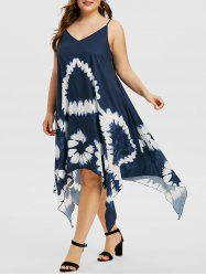 Handkerchief Tie Dye Plus Size Cami Dress -