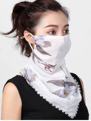 Outdoor Floral Print Riding Mask Scarf -