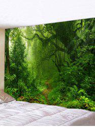 Forest Trail Printed Tapestry Wall Hanging Art -