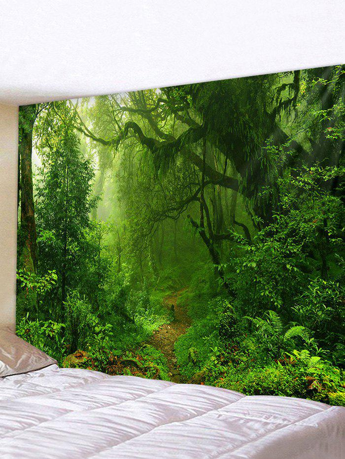 Online Forest Trail Printed Tapestry Wall Hanging Art