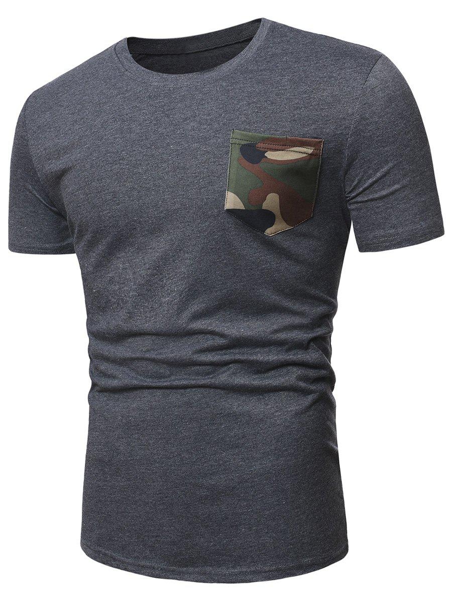Latest Camo Pocket Short Sleeve Casual T Shirt