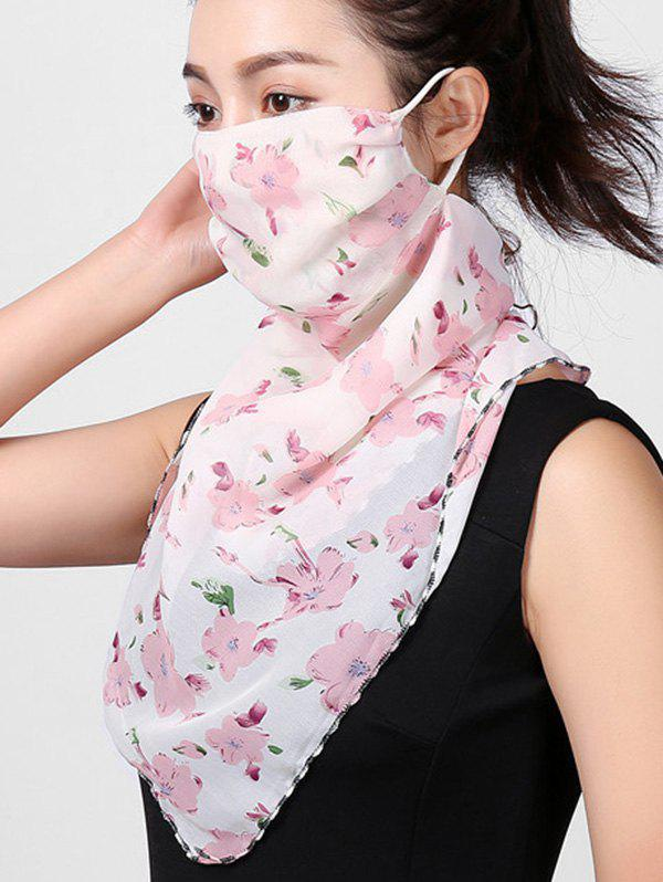 Outfits Outdoor Flowers Print Riding Mask Scarf