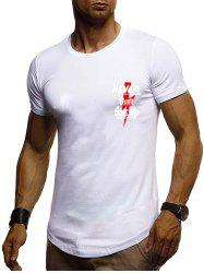 Letter Graphic Printing Casual T-shirt -