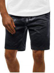 Camouflage Print Ombre Casual Drawstring Shorts -