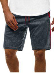 Contrast Color Zip Pockets Casual Shorts - Gris S