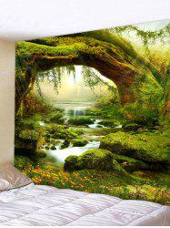 3D Print Grass Streamlet Waterproof Wall Tapestry -
