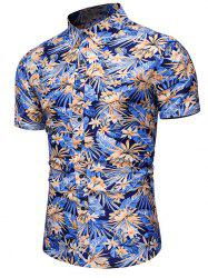 Flower Leaf Pattern Casual Shirt -