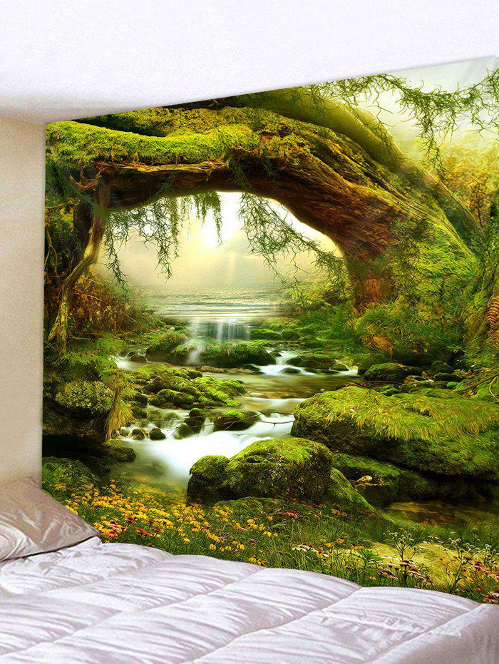 Hot 3D Print Grass Streamlet Waterproof Wall Tapestry