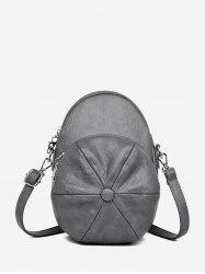 Baker Boy Cap Shape Crossbody Bag -