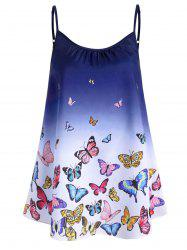 Plus Size Ombre Butterfly Print Cami Top -