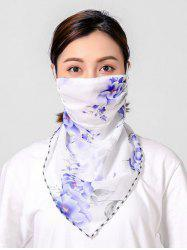 Flowers Printed Outdoor Mask Scarf -