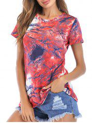 Geometric Printed Short Sleeve Tee -