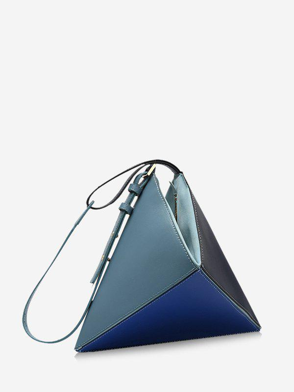 Fancy Colorblock Geo Leather Handbag
