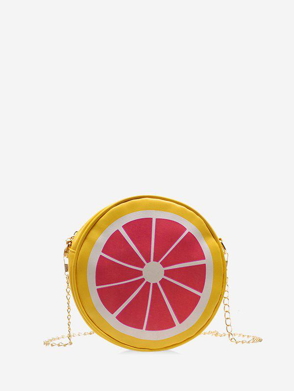 Outfits Cartoon Fruit Round Chain Crossbody Bag