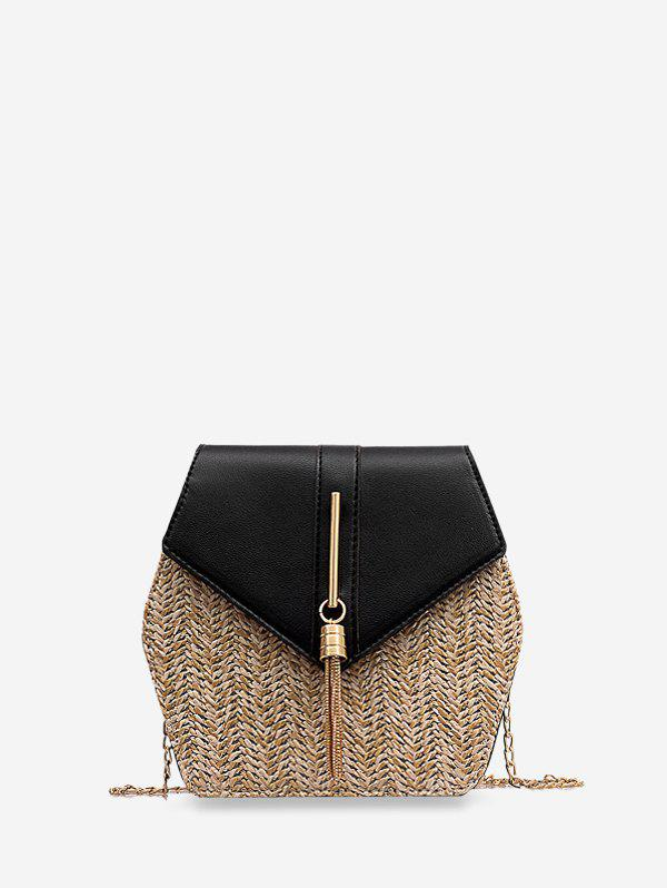 Outfit Geometric Tassel Knitted Chain Crossbody Bag