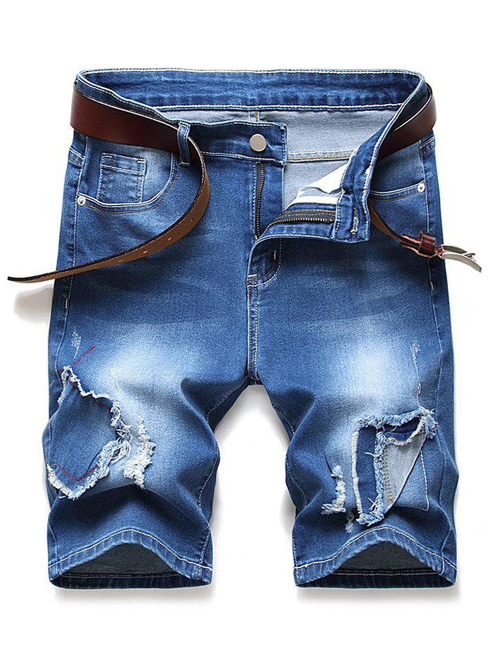 Store Patchworks Ripped Design Denim Shorts