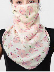 Outdoor Flower Printed Sun-proof Mask Scarf -