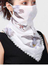 Flower Print Outdoor Riding Mask Scarf -