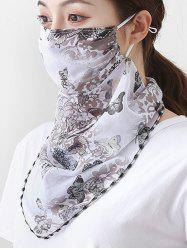 Outdoor Butterfly Printed Mask Scarf -