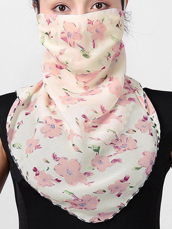 Shop Outdoor Flower Printed Sun-proof Mask Scarf