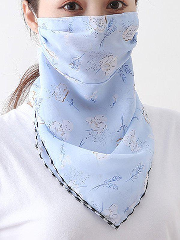 Outfits Flower Printed Summer Mask Scarf