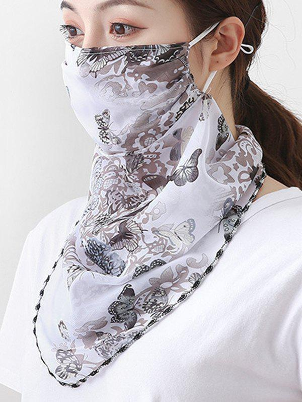 Affordable Outdoor Butterfly Printed Mask Scarf