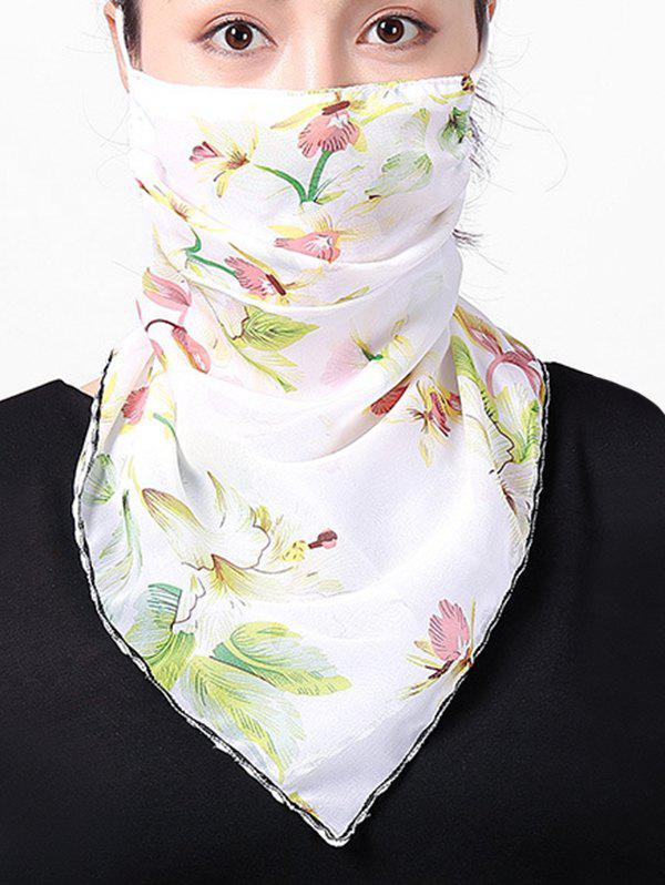 Latest Chiffon Flower Printed Riding Mask Scarf