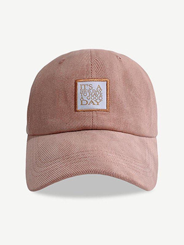 Shop Embroidered Letters Pattern Baseball Cap