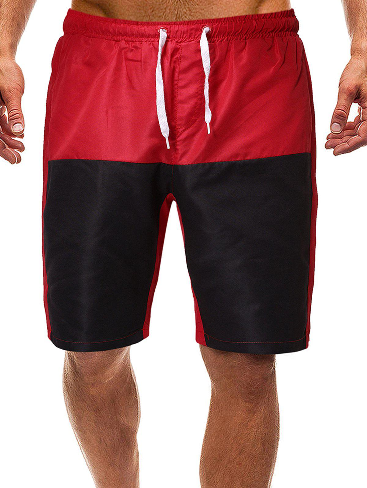 Discount Contrast Color Drawstring Lounge Shorts